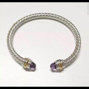 David Yurman 14k amethyst classic cable bracelet